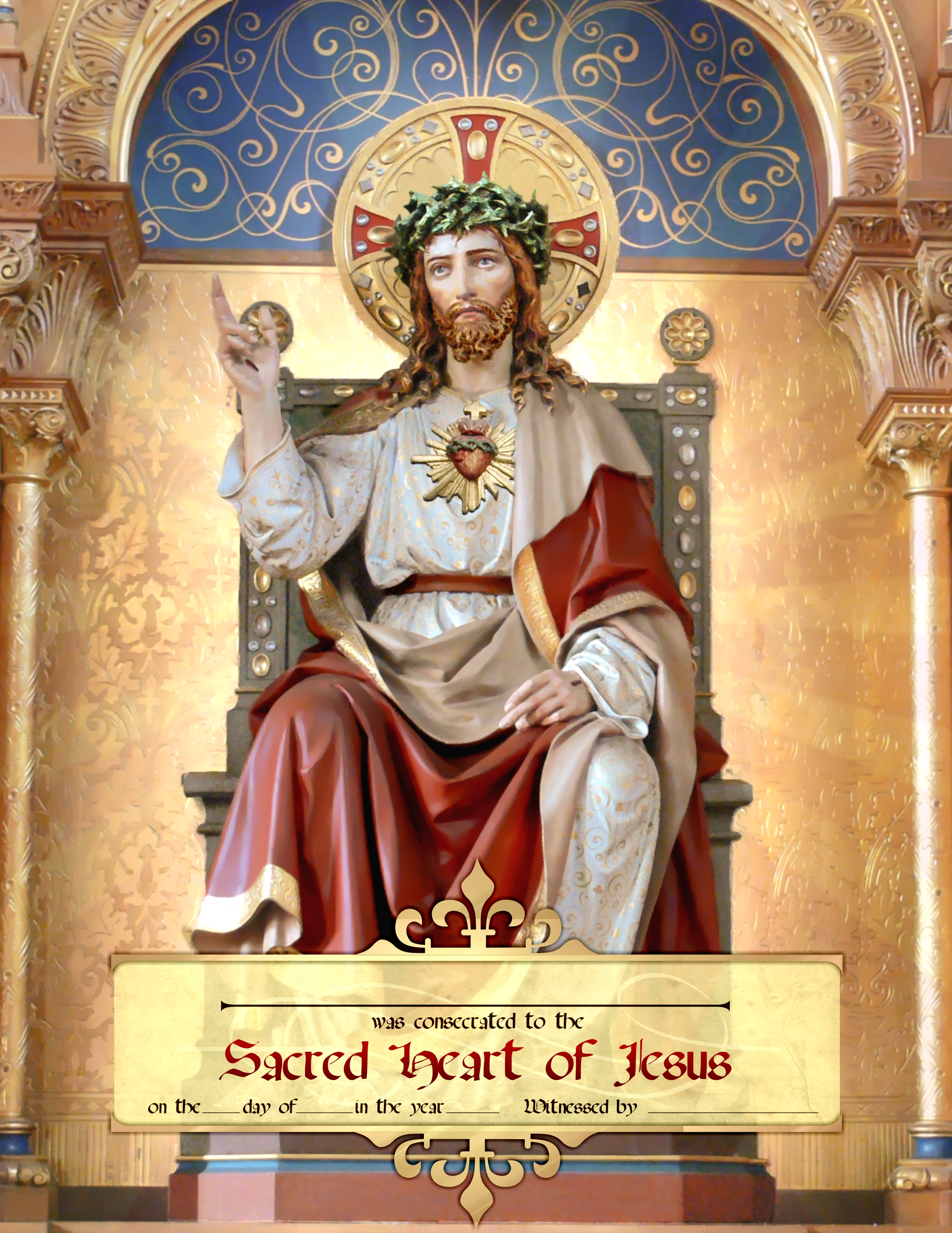 Enthrone the Sacred Heart in Your Domestic Church